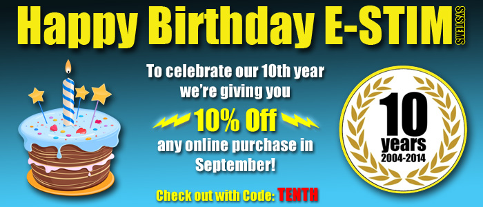 10% Off for E-Stim Birthday